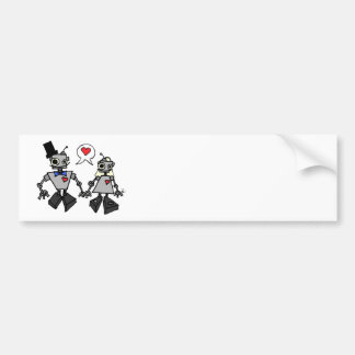 Wedding robots bumper sticker
