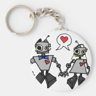 Wedding robots keychain