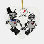 Wedding robots ornaments