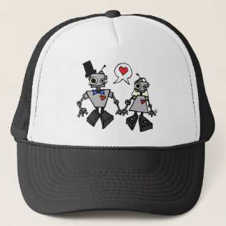 Wedding robots trucker hat