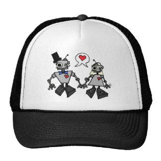 Wedding robots trucker hat