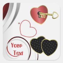 stickers, wedding, shower, romance, romantic, personalize, custom, Sticker with custom graphic design