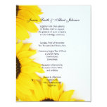 Wedding romantic sunflowers invitation custom invites