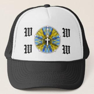 Wedding Rosary Monogram Trucker Hat