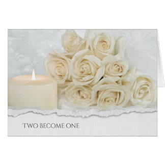wedding rose bouquet with torn paper edge card