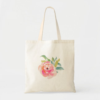 Wedding Rose Elegant pink watercolor roses floral Tote Bag