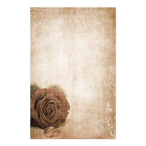 Wedding Rose Vintage Stationery
