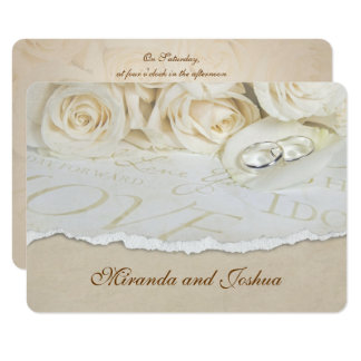 Wedding Roses and Rings Card