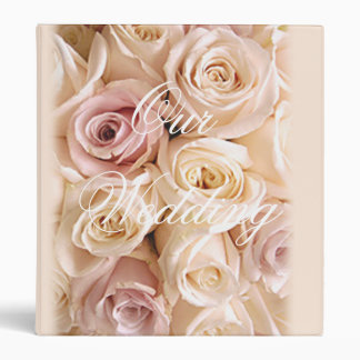 WEDDING ROSES by SHARON SHARPE 3 Ring Binder