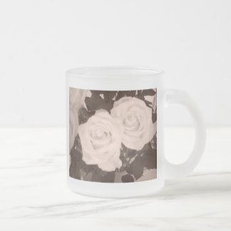 Wedding Roses Frosted Glass Coffee Mug