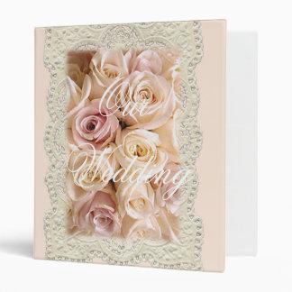 WEDDING ROSES & LACE by SHARON SHARPE Vinyl Binder