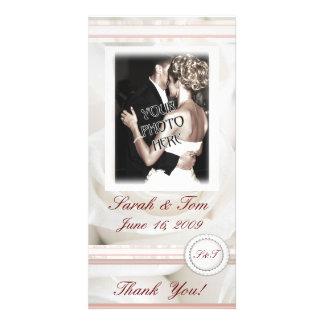 Wedding Roses Thank You Customized Photo Card