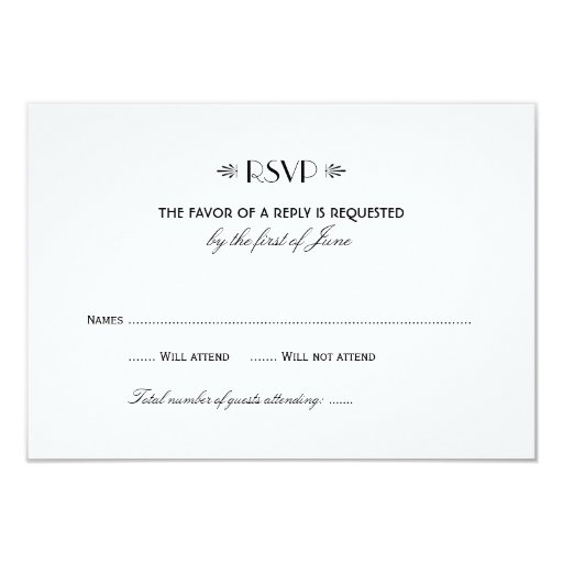 Wedding RSVP Card 1 Art...