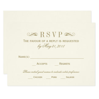 wedding rsvp cards examples