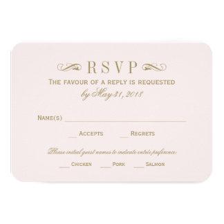 Wedding RSVP Card | Antique Gold Flourish Invite