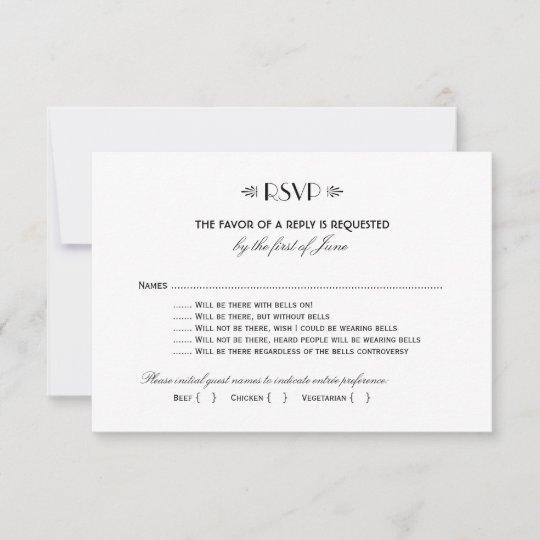 Wedding Rsvp Card Art Deco Elegant Style