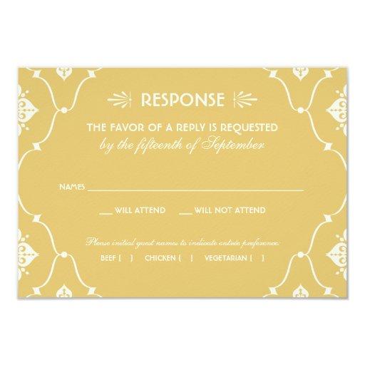 Wedding RSVP Card Art Deco...