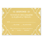Wedding RSVP Card | Art Deco Style Personalized Invitations