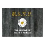 Wedding RSVP Card - Barnwood & Daisy Invite