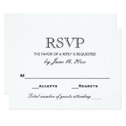 RSVP Cards Templates Zazzle - Rsvp card template