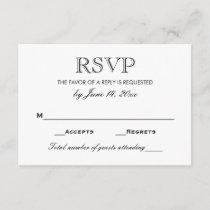 Wedding RSVP Card | Black and White