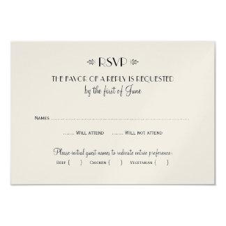 Wedding RSVP Card | Dinner Options