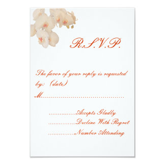 Wedding RSVP Card Featuring Orchids
