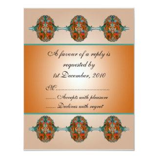 Wedding RSVP Card Grecian