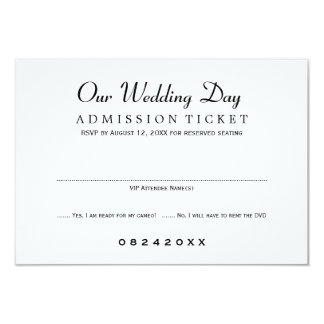 Wedding RSVP Card | Movie Ticket Style Announcements