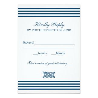 Wedding RSVP Card | Nautical Stripes Theme