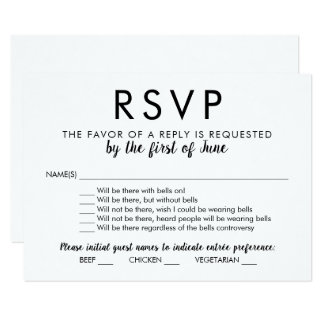Wedding RSVP Card | With Bells On