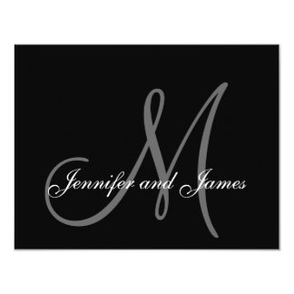 Wedding RSVP Card with Monogram and Names