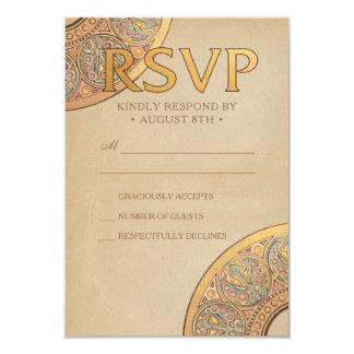 Wedding RSVP Cards | Gold Nouveau Deco