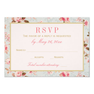 Wedding RSVP Cards | Vintage Garden Party