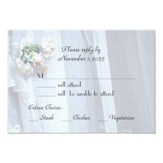 Wedding RSVP Cards, Vintage Lace