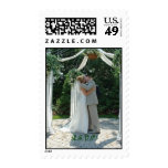 Wedding RSVP couple kissing Postage Stamps