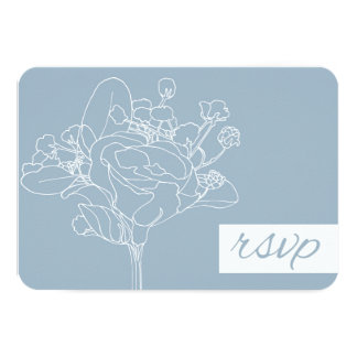 Wedding RSVP (Diamond Blue) 9cm X 13cm Invitation Card