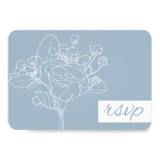 "Wedding RSVP (Diamond Blue) 3.5"" X 5"" Invitation Card"