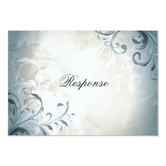 Wedding RSVP Elegant Vintage Foliage & Swirl Card