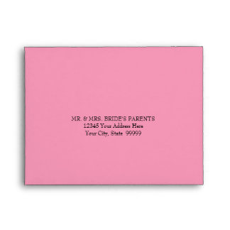Wedding RSVP Envelope for Bokeh Movie Ticket Style
