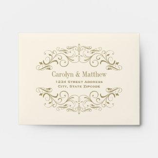 Wedding RSVP Envelopes | Antique Flourish