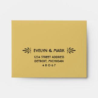 Wedding RSVP Envelopes | Art Deco Style
