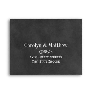 Wedding RSVP Envelopes   Chalkboard Style