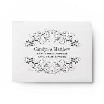Wedding RSVP Envelopes   Flourished Design