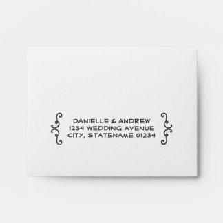 Wedding RSVP Envelopes | Handwritten Style