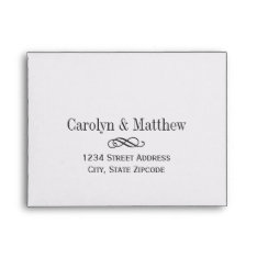 Wedding Rsvp Envelopes | Printed Address at Zazzle
