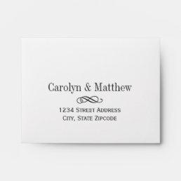 Wedding RSVP Envelopes | Printed Address