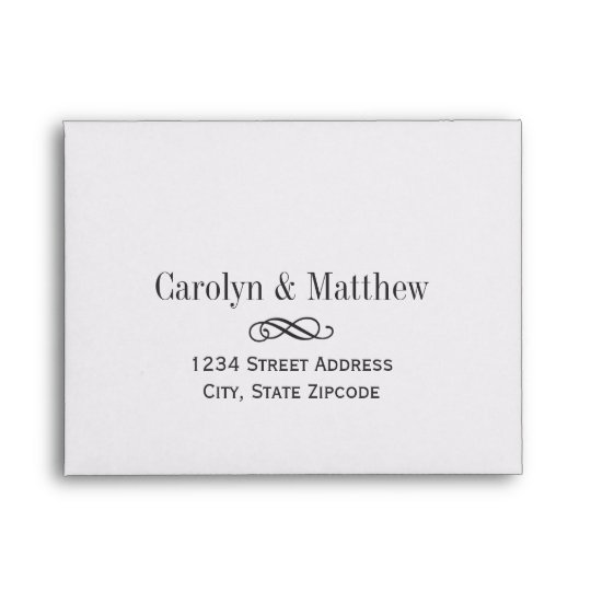 How To Address Wedding Gift Envelope : Wedding RSVP Envelopes Printed Address Zazzle