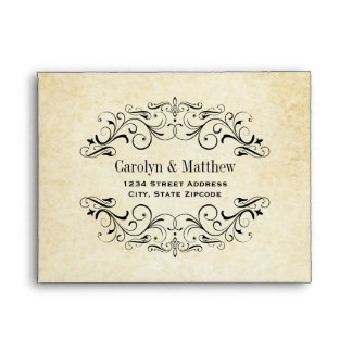 Wedding RSVP Envelopes   Vintage Flourish