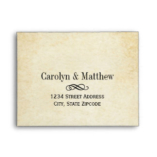 Wedding RSVP Envelopes | Vintage Style